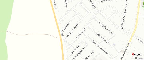 Улица Строителей на карте Баймака с номерами домов