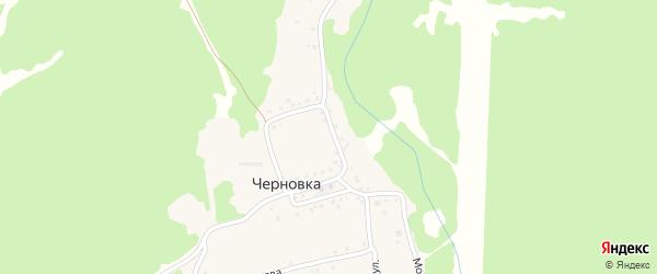 Совхозная улица на карте деревни Черновки с номерами домов
