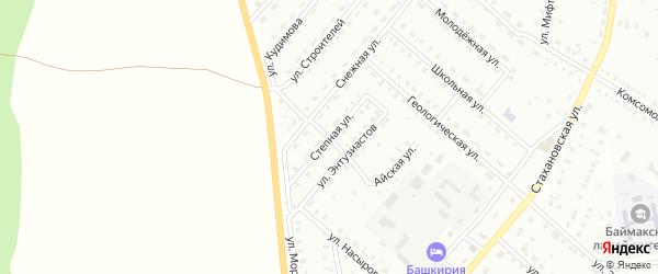 Степная улица на карте Баймака с номерами домов