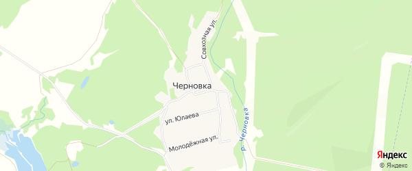 Карта деревни Черновки в Башкортостане с улицами и номерами домов