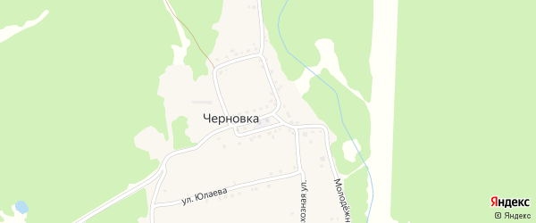 Улица А.Мубарякова на карте деревни Черновки с номерами домов