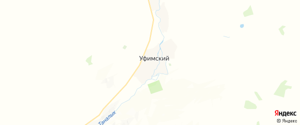 Карта Уфимского сельсовета республики Башкортостан с районами, улицами и номерами домов
