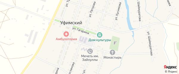 Улица Пушкина на карте села Уфимского с номерами домов