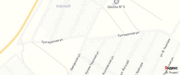 Тунгаурская улица на карте Баймака с номерами домов