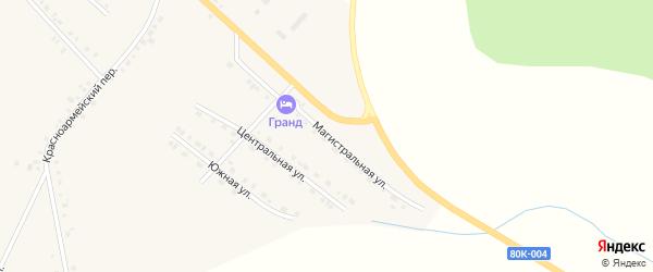 Магистральная улица на карте села Месягутово с номерами домов