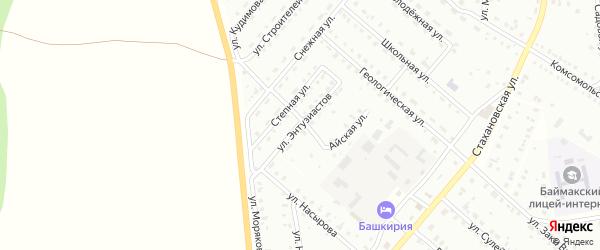 Улица Энтузиастов на карте Баймака с номерами домов