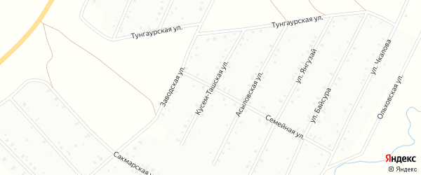 Кусем-Ташская улица на карте Баймака с номерами домов