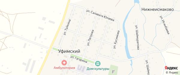 Улица Петрова на карте села Уфимского с номерами домов