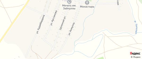 Улица Акмуллы на карте села Уфимского с номерами домов