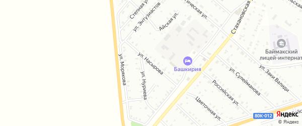 Улица Г.Насырова на карте Баймака с номерами домов