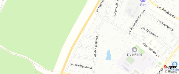 Улица Ф.Нигматуллиной на карте Баймака с номерами домов