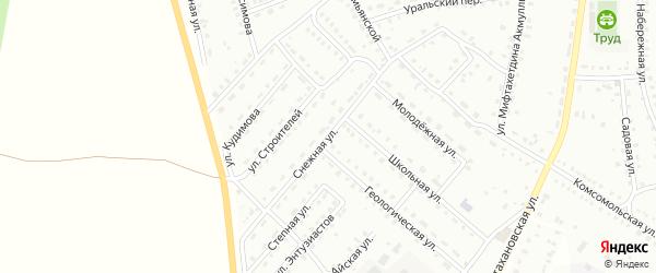 Снежная улица на карте Баймака с номерами домов