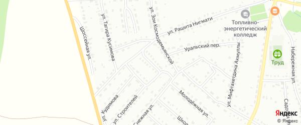 Улица К.Цеткин на карте Баймака с номерами домов