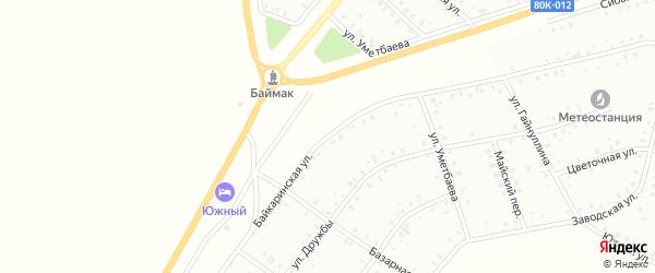 Байкаринская улица на карте Баймака с номерами домов