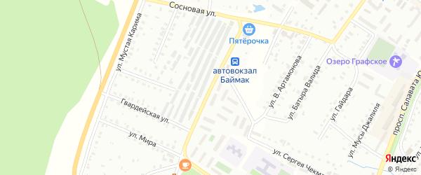 Улица С.Есенина на карте Баймака с номерами домов