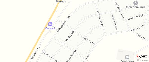 Базарная улица на карте Баймака с номерами домов