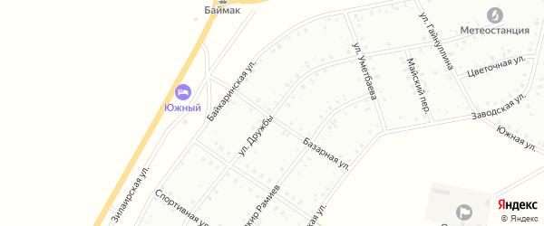 Улица Дружбы на карте Баймака с номерами домов