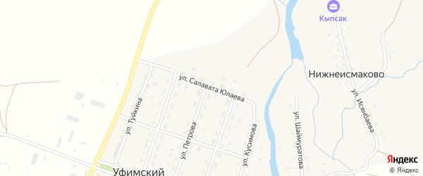 Улица С.Юлаева на карте села Уфимского с номерами домов