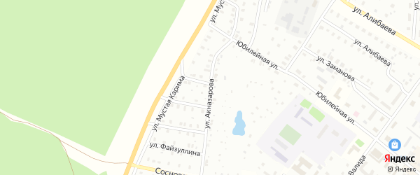 Улица З.Акназарова на карте Баймака с номерами домов