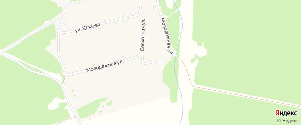 Лесная улица на карте деревни Черновки с номерами домов