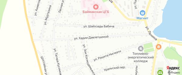 Улица Х.Давлетшиной на карте Баймака с номерами домов