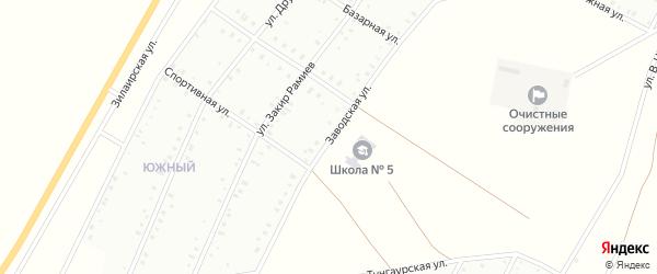 Заводская улица на карте Баймака с номерами домов
