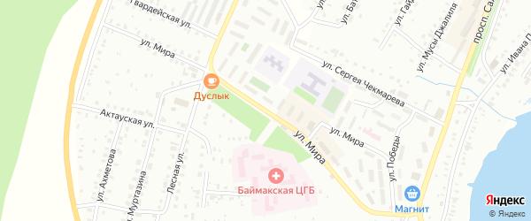 Улица Мира на карте Баймака с номерами домов