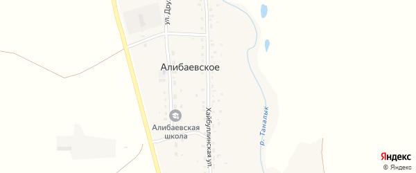 Хайбуллинская улица на карте Алибаевского села с номерами домов