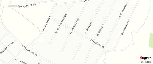 Семейная улица на карте Баймака с номерами домов