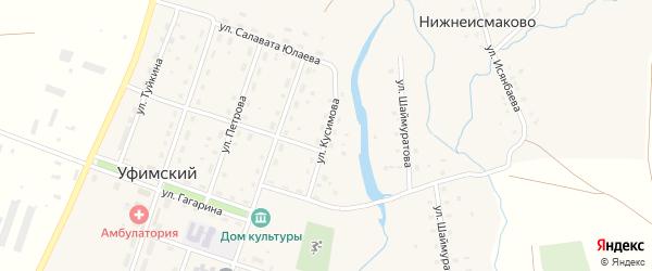 Улица Кусимова на карте села Уфимского с номерами домов