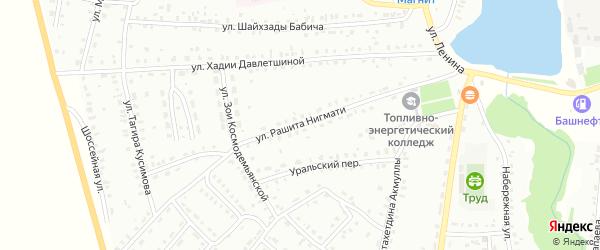 Улица Р.Нигмати на карте Баймака с номерами домов