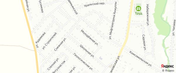 Молодежная улица на карте Баймака с номерами домов