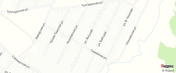 Улица Янгузай на карте Баймака с номерами домов