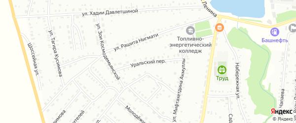Уральский переулок на карте Баймака с номерами домов