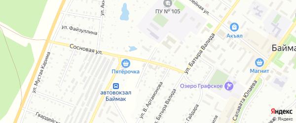 Улица М.Цветаевой на карте Баймака с номерами домов