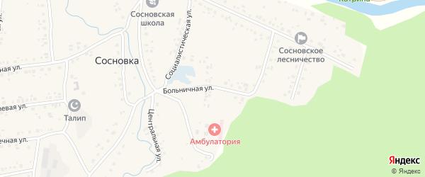 Больничная улица на карте села Сосновки с номерами домов