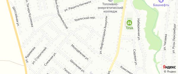 Солнечный переулок на карте Баймака с номерами домов