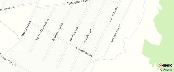 Улица Байсура на карте Баймака с номерами домов