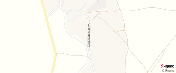Сарыкульская улица на карте Алибаевского села с номерами домов