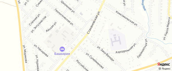 Стахановская улица на карте Баймака с номерами домов