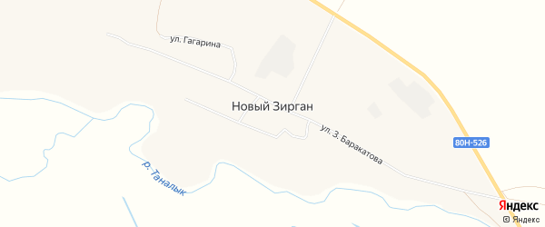 Карта села Нового Зиргана в Башкортостане с улицами и номерами домов