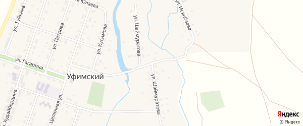 Улица Шаймуратова на карте села Уфимского с номерами домов