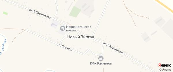 Улица З.Баракатова на карте села Нового Зиргана с номерами домов