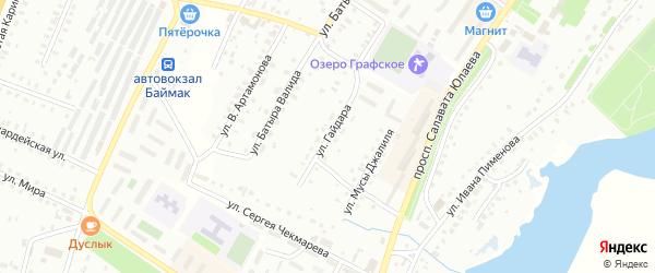 Улица А.Гайдара на карте Баймака с номерами домов