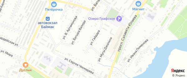 Улица А.Манылова на карте Баймака с номерами домов