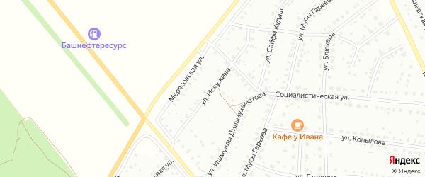 Улица А.Искужина на карте Баймака с номерами домов