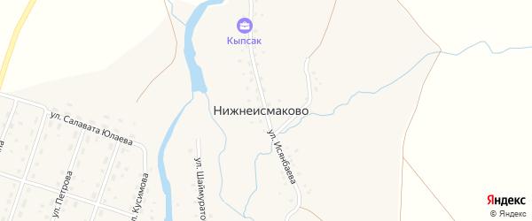 Улица Исянбаева на карте деревни Нижнеисмаково с номерами домов