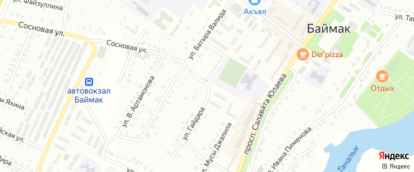 Улица М.Джалиля на карте Баймака с номерами домов