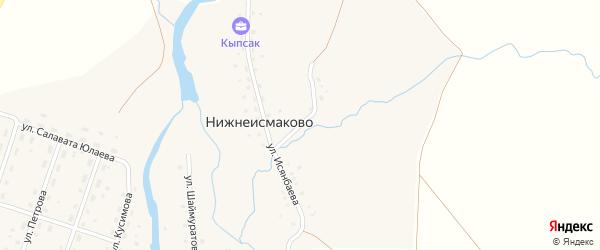 Улица Гарипова на карте деревни Нижнеисмаково с номерами домов