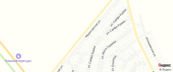 Мерясовская улица на карте Баймака с номерами домов